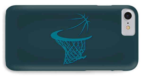 Hornets Basketball Hoop IPhone Case by Joe Hamilton