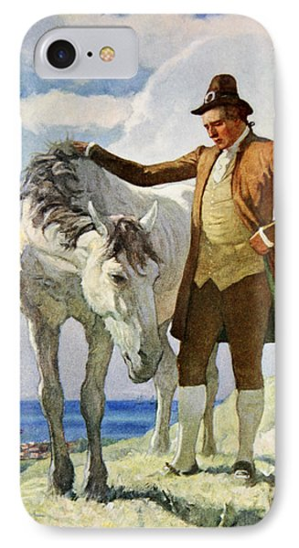 Horse And Owner IPhone Case by Newell Convers Wyeth