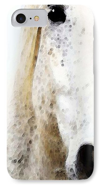 Horse Art - Waiting For You  IPhone Case by Sharon Cummings