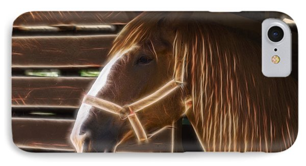 Horse Electric IPhone Case by Chris Flees