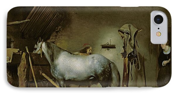 Horse In A Stable IPhone Case by Gerard Terborch