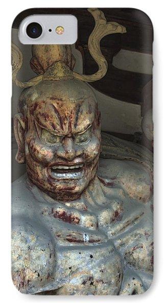 Horyu-ji Temple Gate Guardian - Nara Japan IPhone Case by Daniel Hagerman