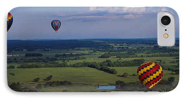 Hot Air Balloons Floating In The Sky IPhone Case by Panoramic Images