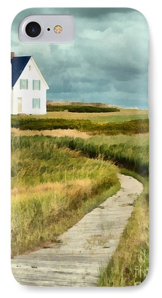 House At The End Of The Boardwalk IPhone Case by Edward Fielding