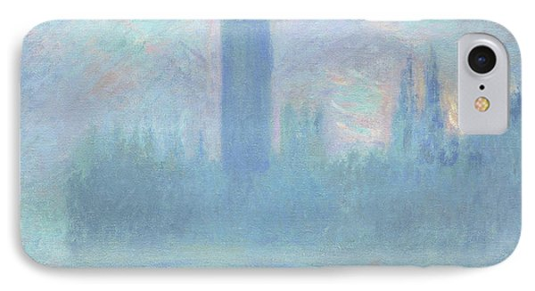 Houses Of Parliament  London IPhone Case by Claude Monet
