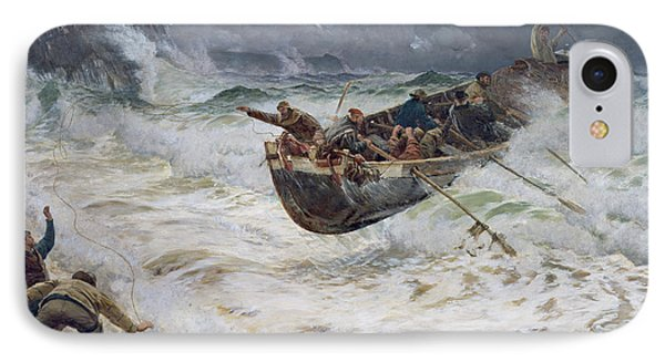 How The Boat Came Home IPhone Case by  Charles Napier Hemy