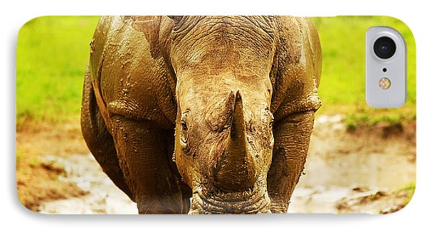 Huge South African Rhino Phone Case by Anna Om