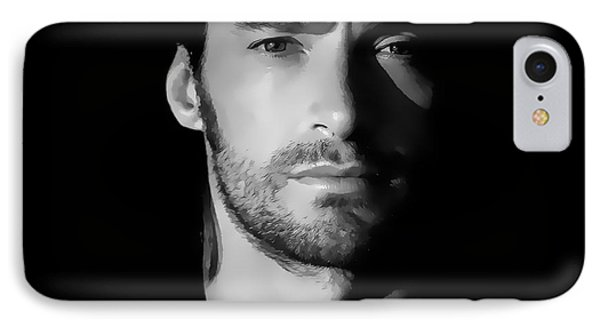 Hugh Jackman Black And White By Gbs Phone Case by Anibal Diaz