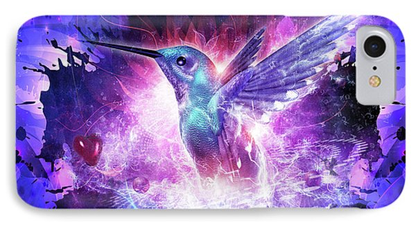 Hummingbird Love IPhone Case by Cameron Gray