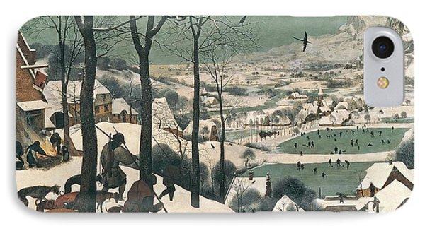 Hunters In The Snow IPhone Case by Pieter the Elder Bruegel