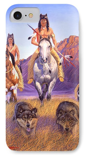 Hunters Of The Full Moon Phone Case by Howard Dubois