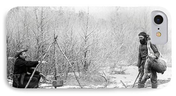 Hunting Camp Winter 1887-88 -- South Dakota IPhone Case by Daniel Hagerman