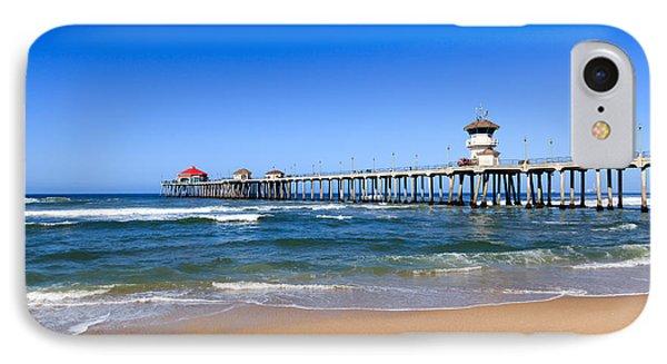 Huntington Beach Pier In Orange County California IPhone Case by Paul Velgos