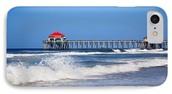 Huntington Beach Pier Photo IPhone Case by Paul Velgos