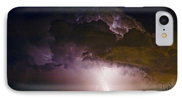 Hwy 52 - 08-15-2010 Lightning Storm Image 42 IPhone Case by James BO  Insogna