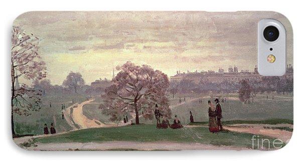 Hyde Park IPhone Case by Claude Monet