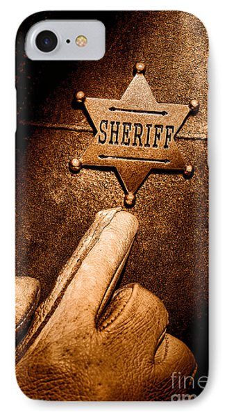 I Am The Law - Sepia IPhone Case by Olivier Le Queinec