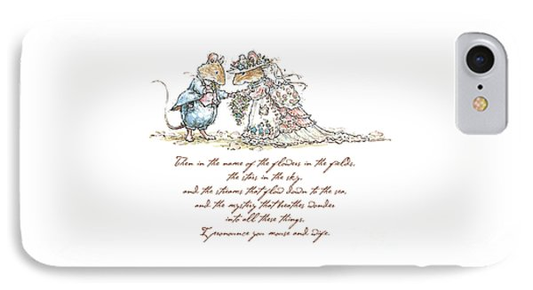 I Pronounce You Mouse And Wife IPhone Case by Brambly Hedge