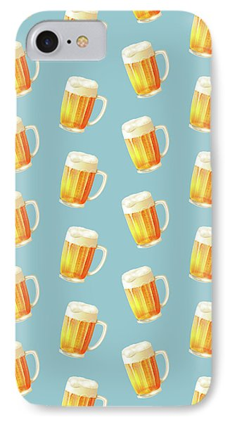 Ice Cold Beer Pattern IPhone Case by Little Bunny Sunshine