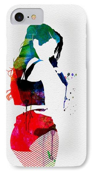 Iggy Watercolor IPhone Case by Naxart Studio