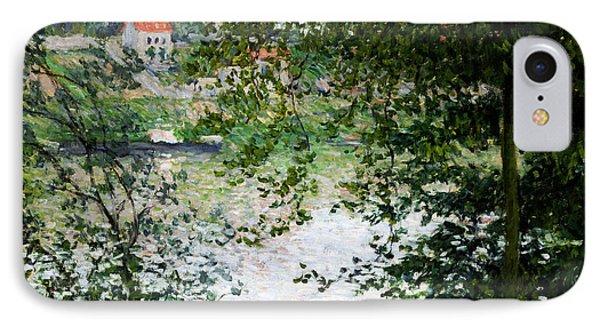 Ile De La Grande Jatte Through The Trees Phone Case by Claude Monet