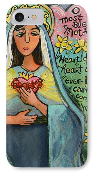 Immaculate Heart Of Mary IPhone Case by Jen Norton