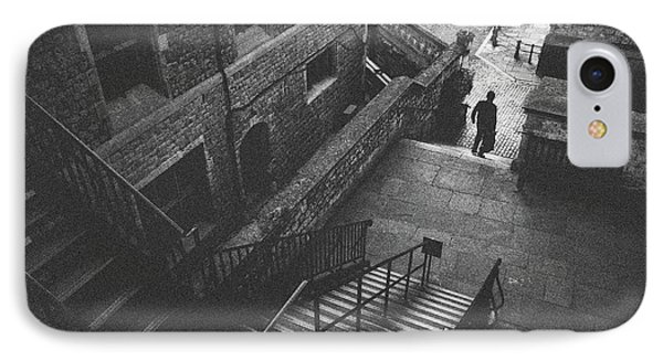 In Pursuit Of The Devil On The Stairs IPhone Case by Joseph Westrupp