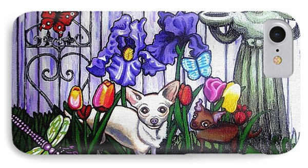 In The Chihuahua Garden Of Good And Evil Phone Case by Genevieve Esson