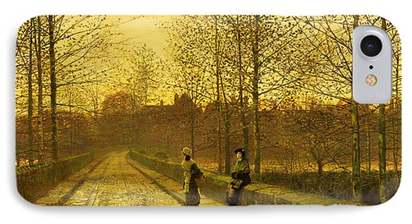 In The Golden Gloaming IPhone Case by John Atkinson Grimshaw
