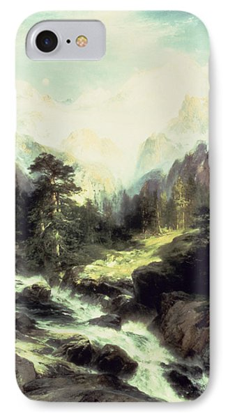 In The Teton Range Phone Case by Thomas Moran