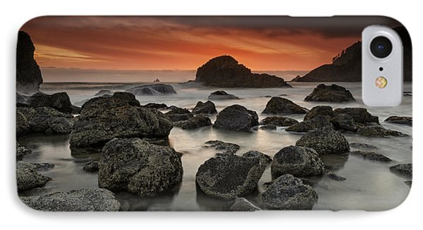 Indian Beach Sunset IPhone Case by Rick Berk