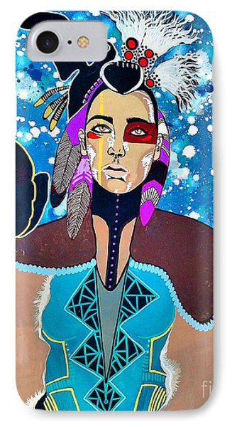 Indian Raven IPhone Case by Amy Sorrell
