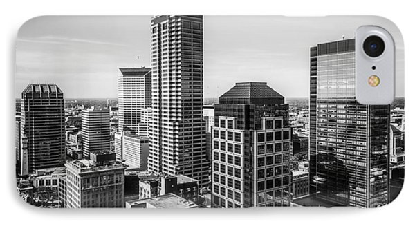 Indianapolis Aerial Black And White Photo IPhone Case by Paul Velgos