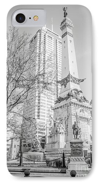 Indianapolis Soldiers And Sailors Monument  IPhone Case by Paul Velgos