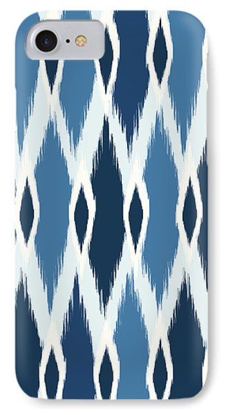 Indigo Ikat IPhone 7 Case by Arte Flora Design Studio