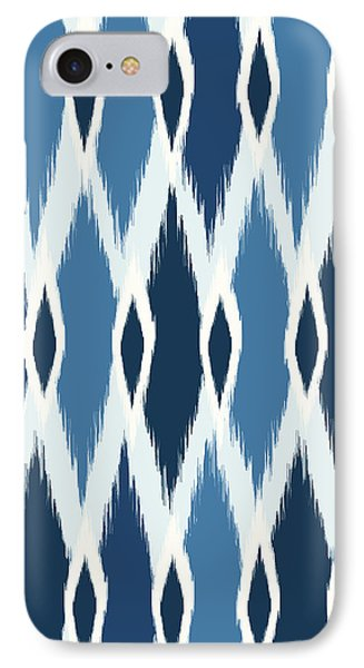 Indigo Ikat IPhone Case by Arte Flora Design Studio