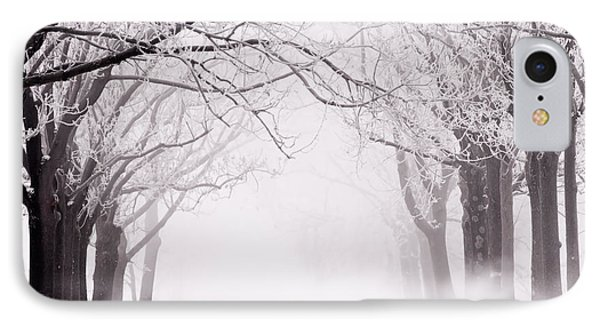 Infinity - Trees Covered With Hoar Frost On A Snowy Winter Day IPhone Case by Roeselien Raimond