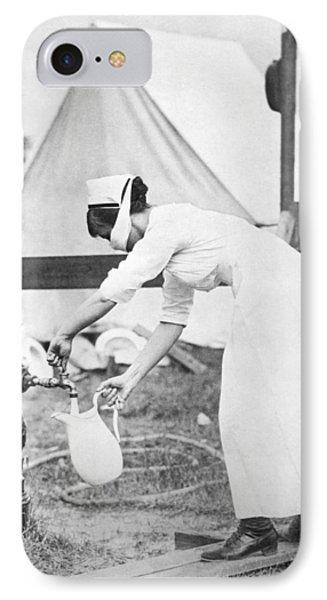 Influenza Outbreak Nurse IPhone Case by Underwood Archives