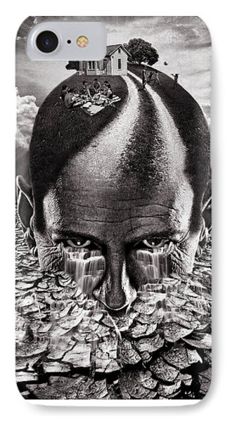 Inhabited Head Gray Scale IPhone Case by Marian Voicu