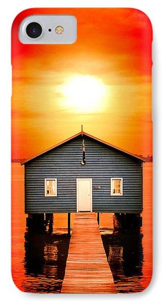 Blood Sunset Panorama IPhone Case by Az Jackson