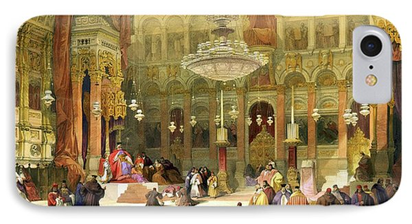 Inside The Church Of The Holy Sepulchre Phone Case by Munir Alawi