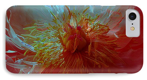 Inside The Heart Of A Peonie IPhone Case by Sabine Stetson