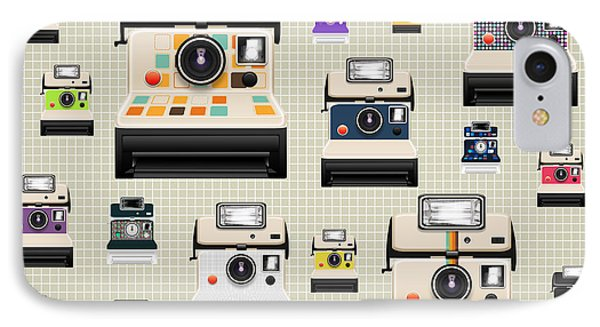Instant Camera Pattern Phone Case by Setsiri Silapasuwanchai