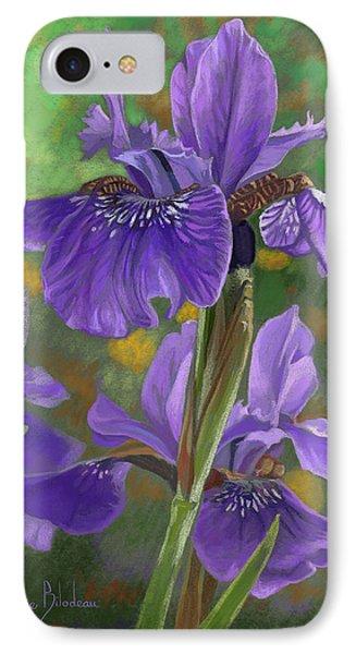 Irises IPhone Case by Lucie Bilodeau