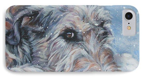 Irish Wolfhound Resting IPhone Case by Lee Ann Shepard
