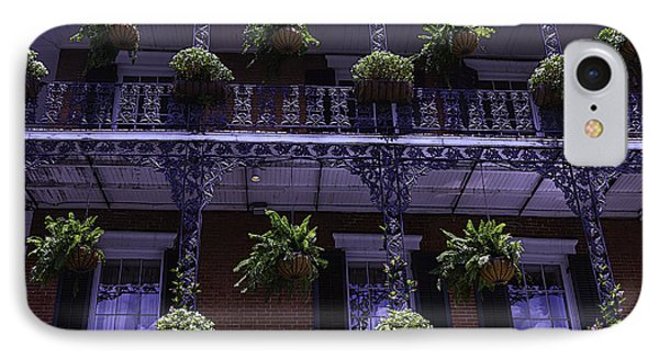 Iron Railings And Plants IPhone Case by Garry Gay