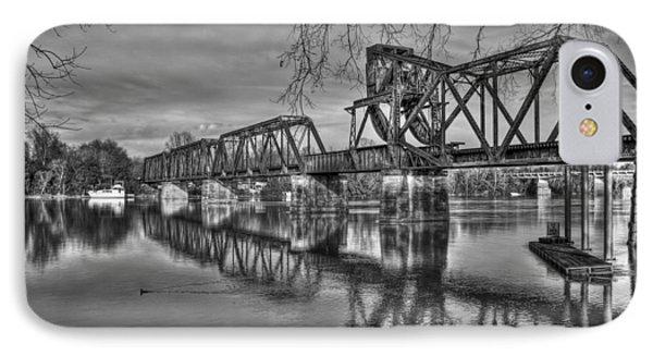 Ironman Trestle 2 6th Street Bridge Augusta Georgia IPhone Case by Reid Callaway