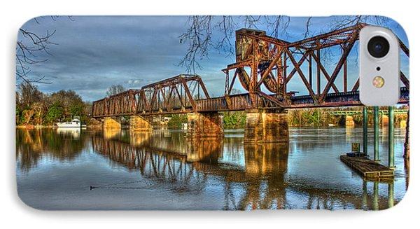 Ironman Trestle Augusta Ga 6th Street Trestle Bridge IPhone Case by Reid Callaway