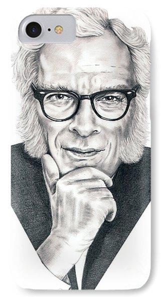Isaac Asimov Phone Case by Murphy Elliott