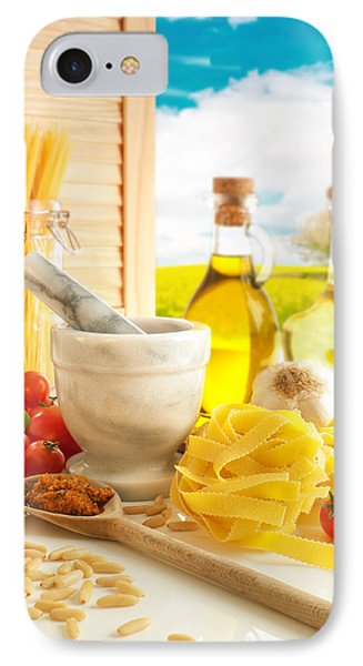 Italian Pasta In Country Kitchen IPhone Case by Amanda Elwell